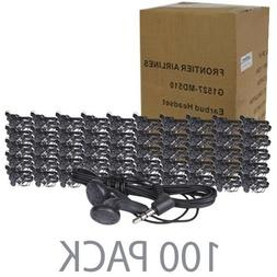 """100-Pack 46"""" Stereo Earbuds w/3.5mm Plug"""