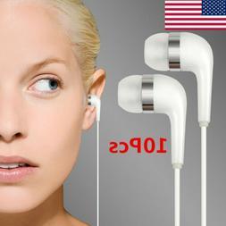 10PCS 3.5mm Headphone In-Ear Earphone With Mic Stereo Headse