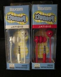 )MAXELL PEANUTZ DIGITAL EAR BUDS** CHOOSE COLOR **