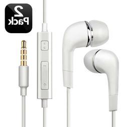 2pcs For Samsung Handsfree Wired Headphones Earphones Earbud