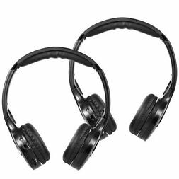 2PCS IR Infrared Wireless Car Headphones Stereo Headset  Dua