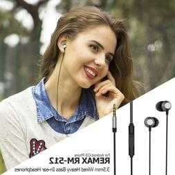 REMAX 3.5mm Wired Headset Earphone In-Ear Headphone Earbud F