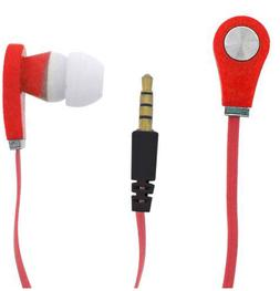 3.5mmRound Earbuds Earphones In-Ear Sound with Microphone Fl