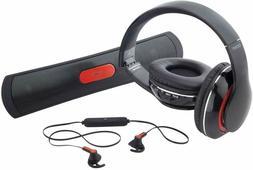 Coby 3 in 1 Bluetooth Combo Pack Speaker, Headphones & Earbu
