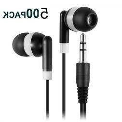 500 Pack Ear Buds Kids Bulk Headphones Wholesale Disposable
