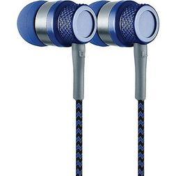 Coby CV-E200BL Jammerz Metal Stereo Earbuds CVE200 Blue