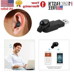 Mini Invisible Wireless Bluetooth In-Ear Headset Earbuds 2 M