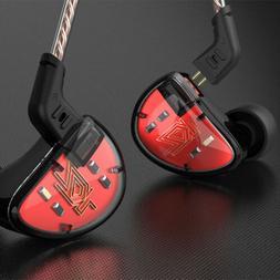 KZ AS10 5BA HiFi Stereo In-Ear Earphone Earbuds 0.75mm 2 Pin