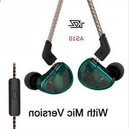 KZ AS10 HiFi Stereo Earphone High Resolution Earbuds In Ear