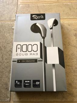 iFrogz Audio Coda  tangle resistant Stereo Ear Buds with Mic