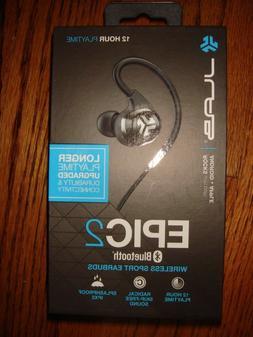 JLab Audio Epic2 Bluetooth 4.0 Wireless Sport Earbuds, Black