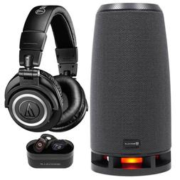 Audio Technica ATH-M50XBT Wireless Bluetooth Headphones+Spea