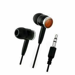 Basketball Novelty in-Ear Earbud Headphones - Black