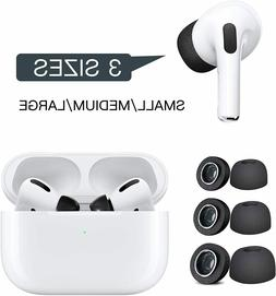 Black Memory Foam Replacement Tips for Apple Airpod Pro Earb
