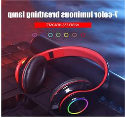 Bluetooth 5.0 Headsets Wireless Earphones Over Ear Earbuds S