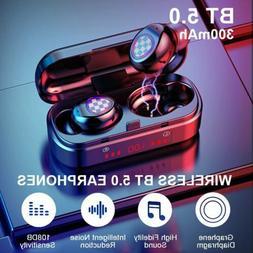 Bluetooth 5.0 TWS Wireless Earphones Twins Earbuds Stereo He