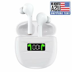 Bluetooth Earphones 5.2 Wireless Earbuds IPX7 Waterproof LED