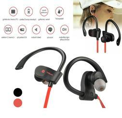 Bluetooth Headphones Sweatproof Stereo Wireless Earbuds For