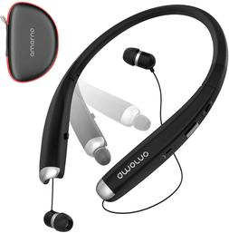 Bluetooth Headphones Wireless Retractable Foldable Headset N