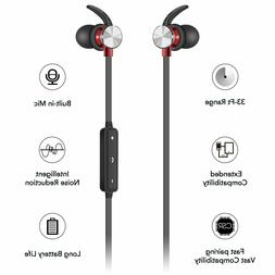 Bluetooth Noise Cancelling Earphones Magnetic Wireless Stere