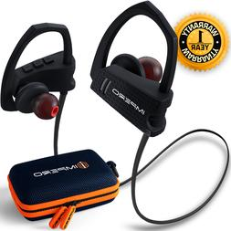 IMPERO Bluetooth Sport Headphones with Mic, Wireless Earbuds