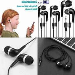 Bulk Earbuds 100 Pack For Classroom Wholesale Headphones Ear