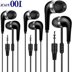 HONGZAN Bulk Earbuds 100 Pack for Classroom, Wholesale Earbu