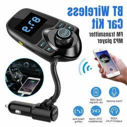 Car Cigar Plug Bluetooth FM Transmitter Radio Player Adapter