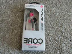 Jlab Core Custom Fit Earbuds with Universal Mic+Track Contro