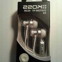 Koss Custom Fit KE291 Ice White Earbuds Portable Audio Headp