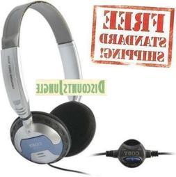 COBY CV130 Super Bass Professional Headphones W/ Volume Cont