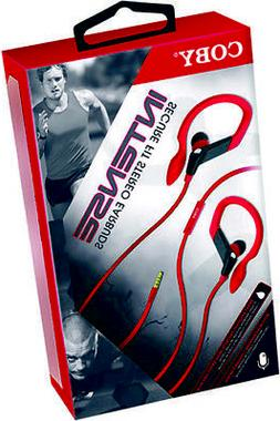 Coby CVE-406-RED High Intense Sports Earbuds  Red