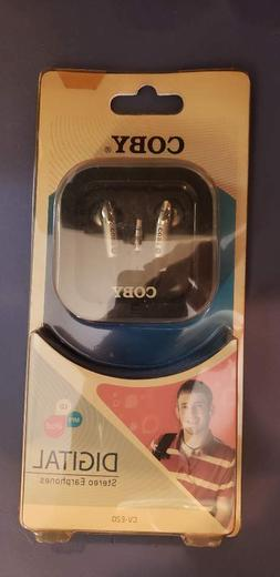 COBY CVE20 DIGITAL EARBUDS FOR MP3- CD & IPOD NEW IN SEALED