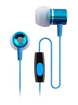 Coby CVEM89BL In-Ear Earbuds with Microphone