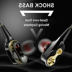 Double Speaker Wired Bluetooth Headphones Earphones High Bas