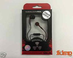 iFrogz Ear Pollution Plugz Earbuds with Mic, Red, Brand New