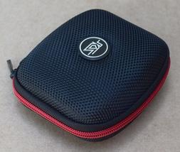 Earbud Carrying Case - Black and Red