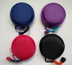 Earbud Case with Carabiner Pick One From Four Different Colo