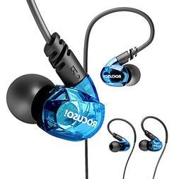 ROCUSO Earbud Headphones with Microphone, Over Ear Waterproo