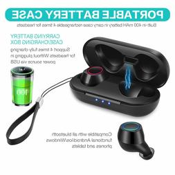 Earbuds TWS Bluetooth 5.0 IPX6 Waterproof 25 Hours Playtime,