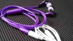 Earbuds Clip Earphones + 1M 4 Pole Extension Cord W/ Mic For
