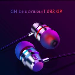 Earbuds Headphones with Microphone Heavy Bass High Definitio
