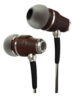 Earbuds original Premium Genuine Wood Inear Noise-isolating