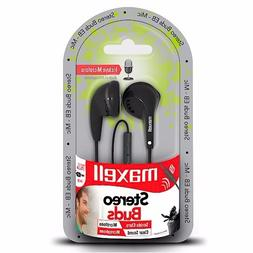 Earbuds Stereo Buds Headphones EB-MIC Maxell Earbud With Mic