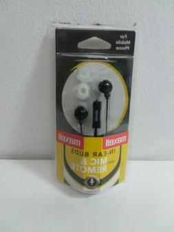 Maxell earbuds With Mic & Remote
