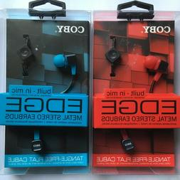 COBY EDGE built in mic Metal Stereo Earbuds + Discount for 2