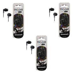 Panasonic ErgoFit In-Ear Earbud Headphones - 3 Pack