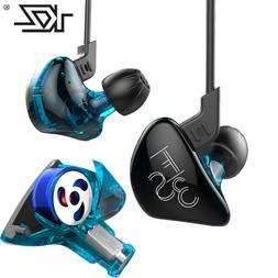 KZ ES3 DD+BA Hybrid Drive In Ear Earphone HIFI Bass Sport He