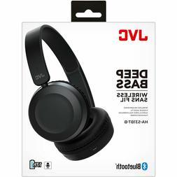 JVC Foldable Bluetooth on-ear Headphones, Black