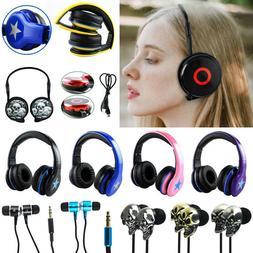 Foldable Over the Ear/ In Ear 3.5mm Wired Headphones Earphon